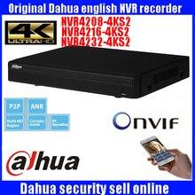 Neue Dahua englisch DH-NVR4208-4KS2 DH-NVR4216-4KS2 DH-NVR4232-4KS2 H.265 1080 P NVR Unterstützung 2 SATA Port bis zu 12 TB kapazität
