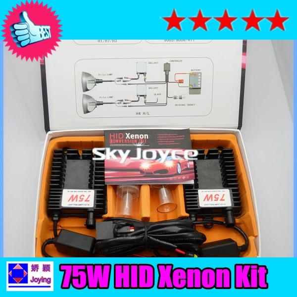 1X fast bright 75W hid Xenon kit H1 H3 H7 H8 H9 H11 H10 9005 9006 75W hid kit auto headlight bulb hid conversion kit headlamp