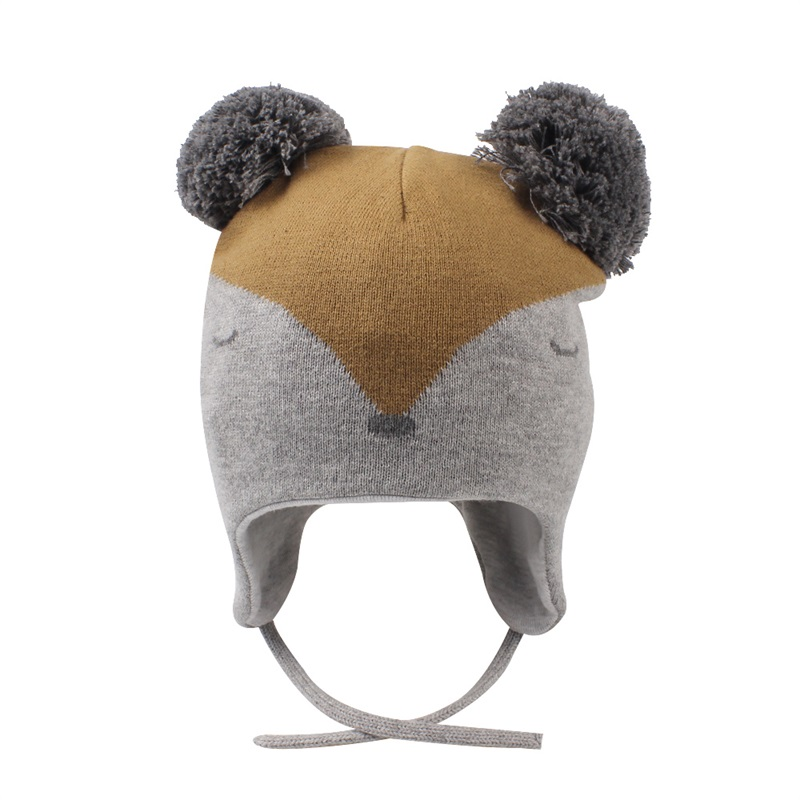 b8e6f26f Clothing Gray JANGANNSA Winter Warm Baby Beanie Cute Earflap Toddler Girls Hat  Fleece Lined Knit Kids ...