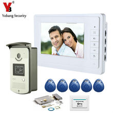 YobangSecurity Wired 7″ Inch LCD Video Door Bell Phone Intercom RFID Card Access Control Home Gate Entry System With Door Lock