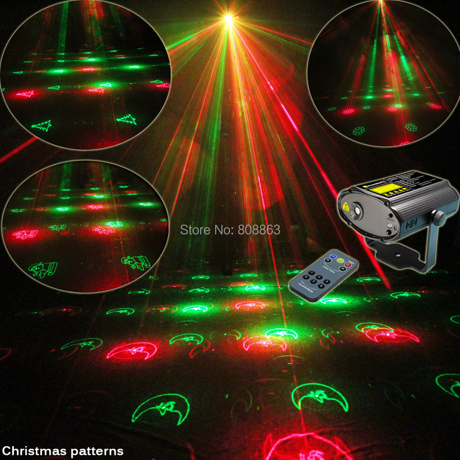 Mini R&G Laser 12 Christmas Patterns Projector Dance Disco Bar Family Party Xmas Stage Lights DJ environment lighting Light T19