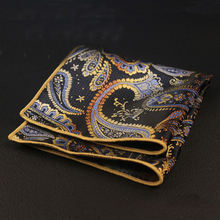 High Quality Wedding Polyester Silk Pocket Square Party Paisley & Dot Handkerchiefs Women Hanky 24cm Pocket Towel for Mens Suit