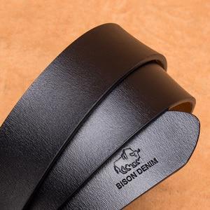 Image 4 - BISON DENIM เข็มขัดบุรุษเข็มขัดหนังวัวแท้เข็มขัดเข็มขัดชายชายคลาสสิก VINTAGE คุณภาพสูงชายเข็มขัด w71486
