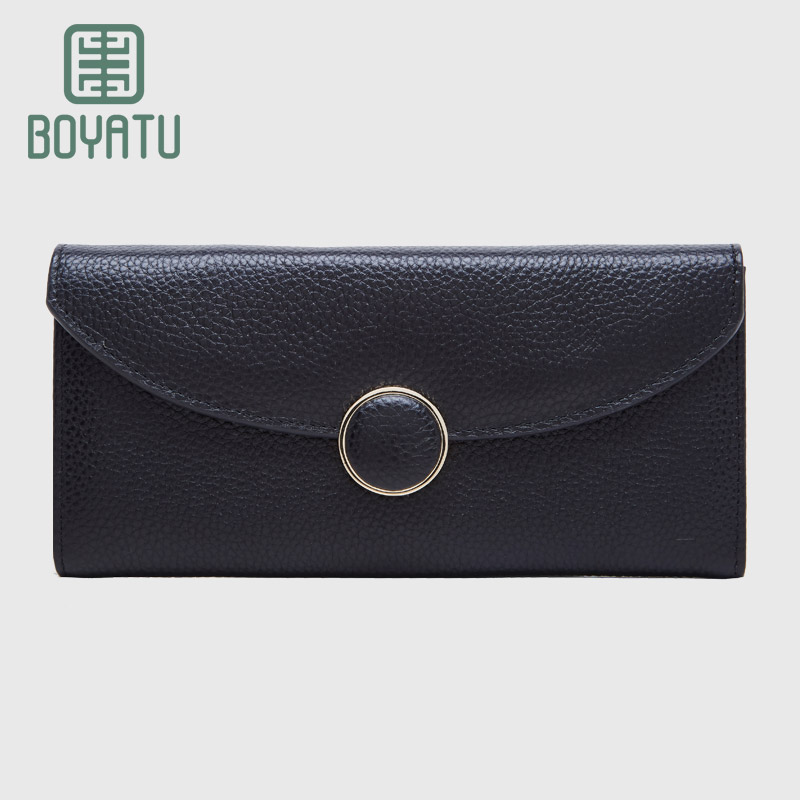 Genuine Leather Wallet Famous Women Designer Brand Clutch Purse Lady Party Wallet Female Coin Pocket Card Holder Money Bag contact s wallet women genuine leather wallet female card holder wallets female purse brand designer money bag wallet female