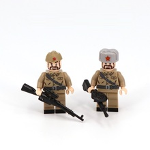 World War Soviet Union Soldier Military Weapons Playmobil Accessories Mini Figures Building Block Brick Original Toys