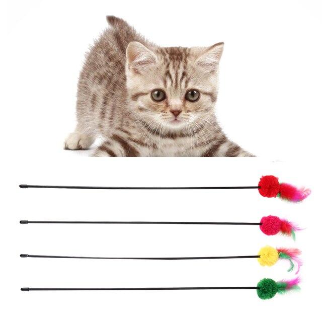 5 Pz Giochi Per Gatti Colorful Piuma Palla Di Lana Giocattoli Per