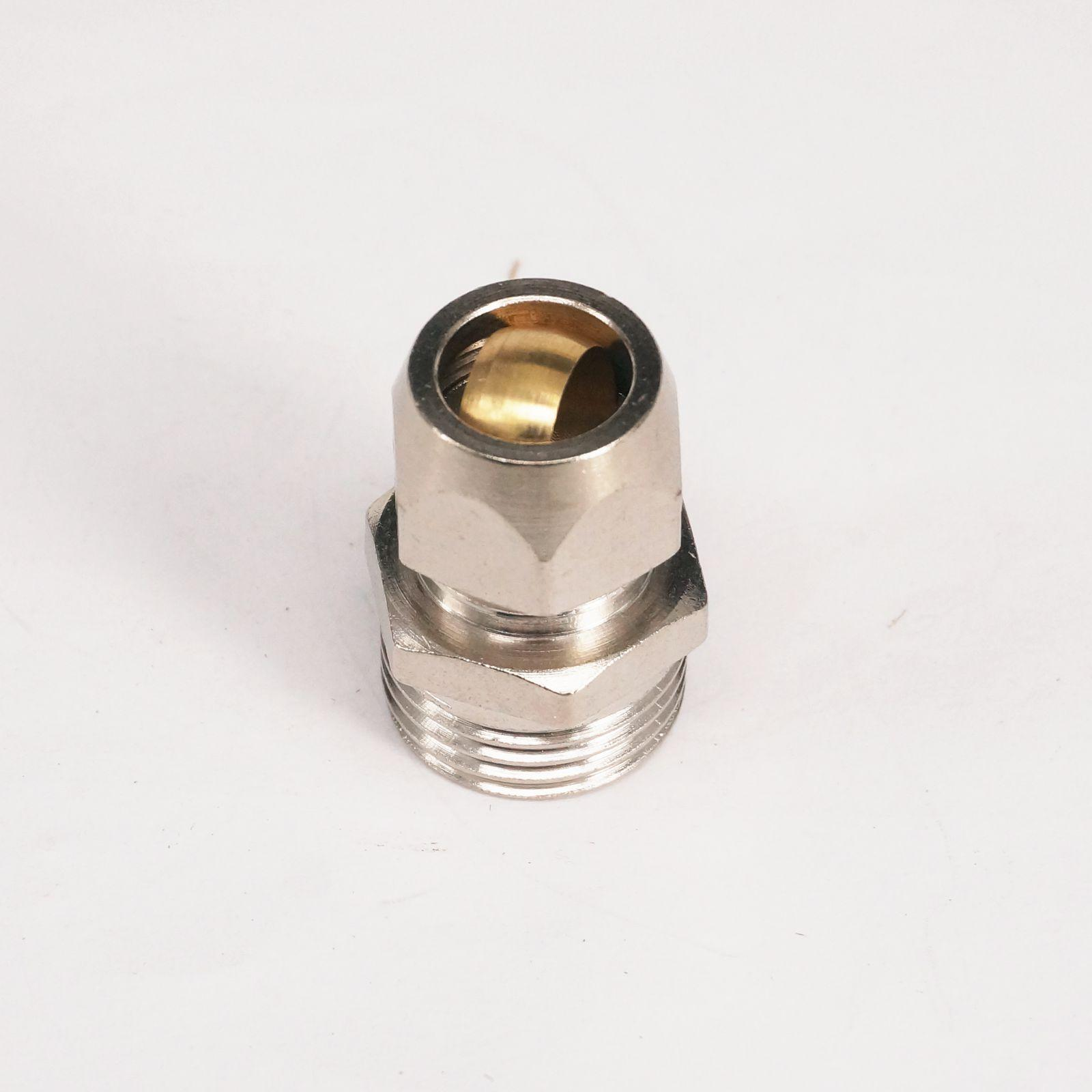 5pcs 1/2 BSP Male Thread Brass Fit 12mm OD Tube Coupler Adapter Connector Compression fitting For Tubing