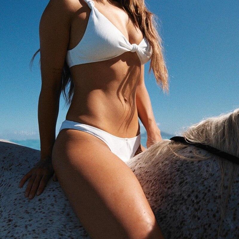 Four Persons Powers Bathing Suit Push up Bikini set Women Swimwear Sexy Swimsuit Brand Plus size NK85 2