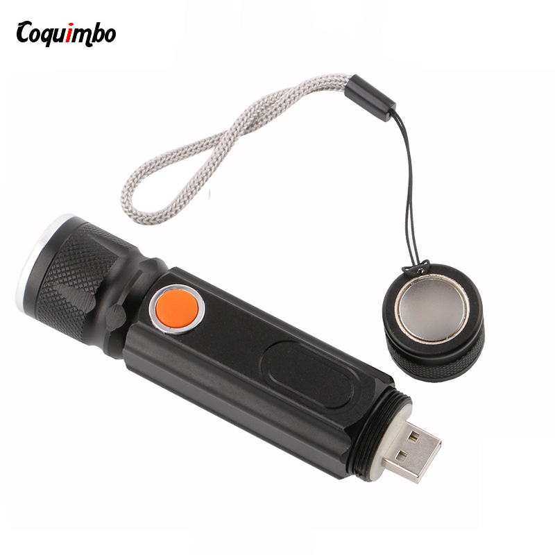 Portable Mini LED Flashlight 4 Modes Flashlight LED Light Outdoor Magnetic Lights With USB Rechargeable For Camping Magnet Lamp emergency light led rechargeable multifunctional leds 5 modes outdoor lamp mini lantern camping light portable lamps flashlight