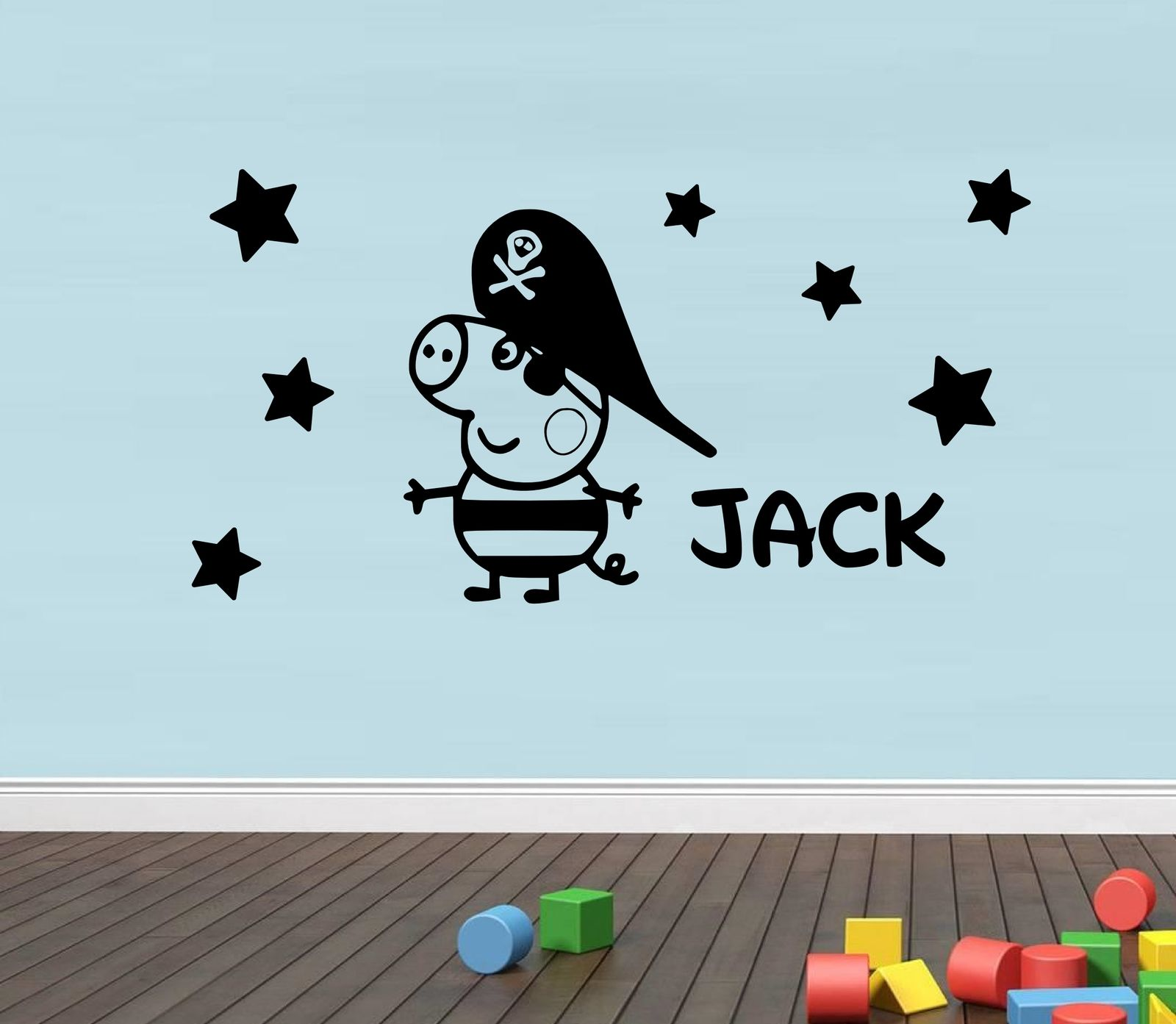 B45 pirate pig customized personalised vinyl wall sticker name b45 pirate pig customized personalised vinyl wall sticker name wall sticker gift in wall stickers from home garden on aliexpress alibaba group amipublicfo Images