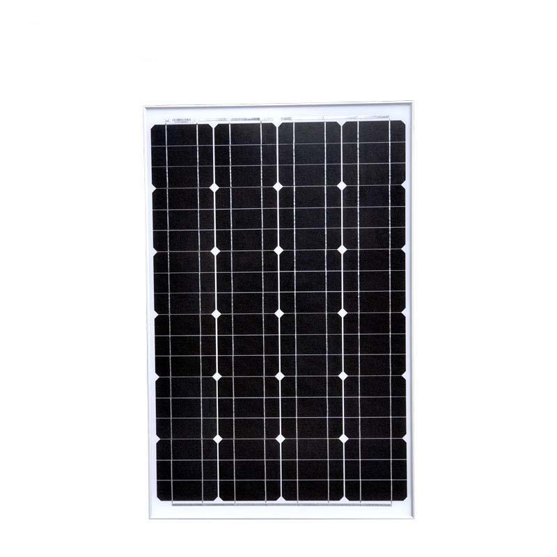 Portable panneau solaire 60w 12v monocristallin batterie solaire chargeur de téléphone caravane voiture caravane RV camping-Car hors réseau étanche