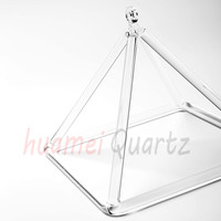 16 Inch Quartz Crystal Singing Pyramid For Sound Energy Healing And Music Therapy
