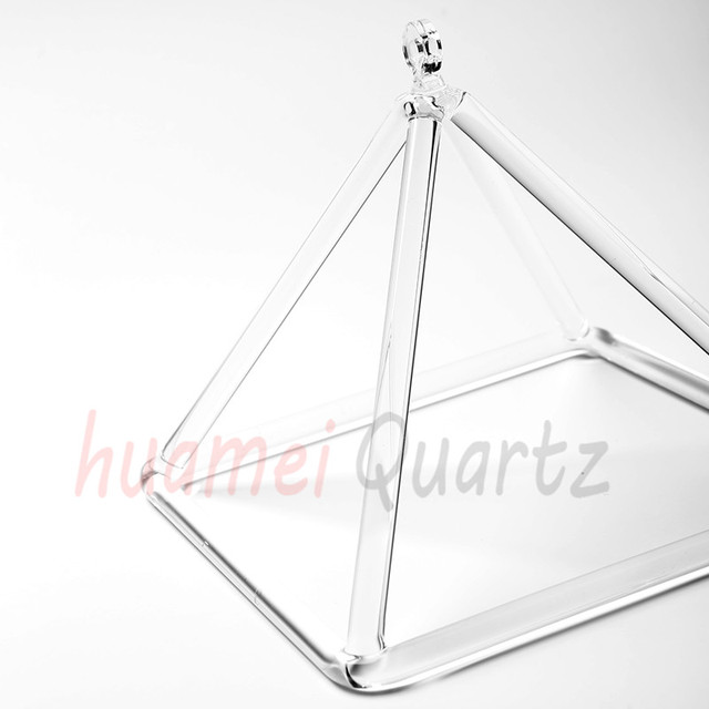 US $123 5 5% OFF|16 inch quartz crystal singing pyramid for sound energy  healing and music therapy-in Bells & Chimes from Sports & Entertainment on