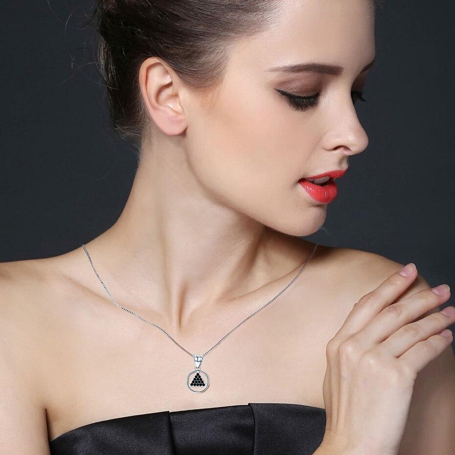 Новое поступление, 925 пробы серебряные ювелирные изделия, модные ожерелья и кулоны для помолвки для женщин Bijoux En Argent 925 P188