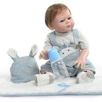 NPK Doll bebes reborn full silicone reborn baby boy girl dolls gift 50cm vinyl newborn babies alive bonecas reborn toys