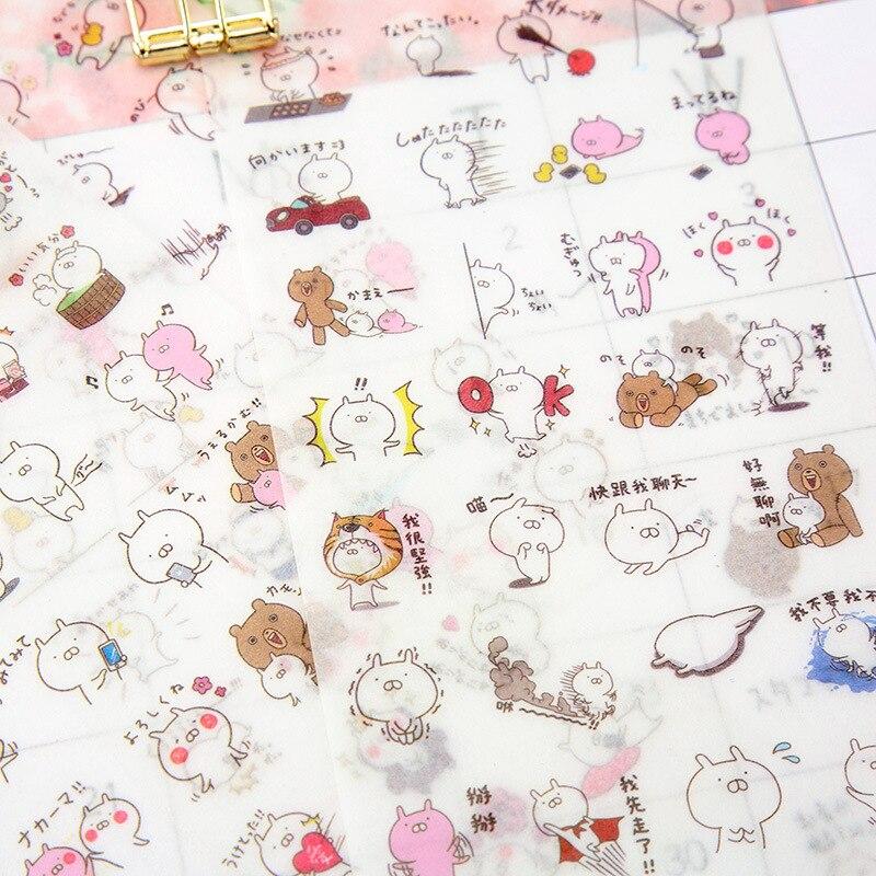 6pcs/lot Paper kawaii rabbit bunny japanese animal Cute Stationery Sticker Diy Cartoon For Planner Scrapbooking Diary School