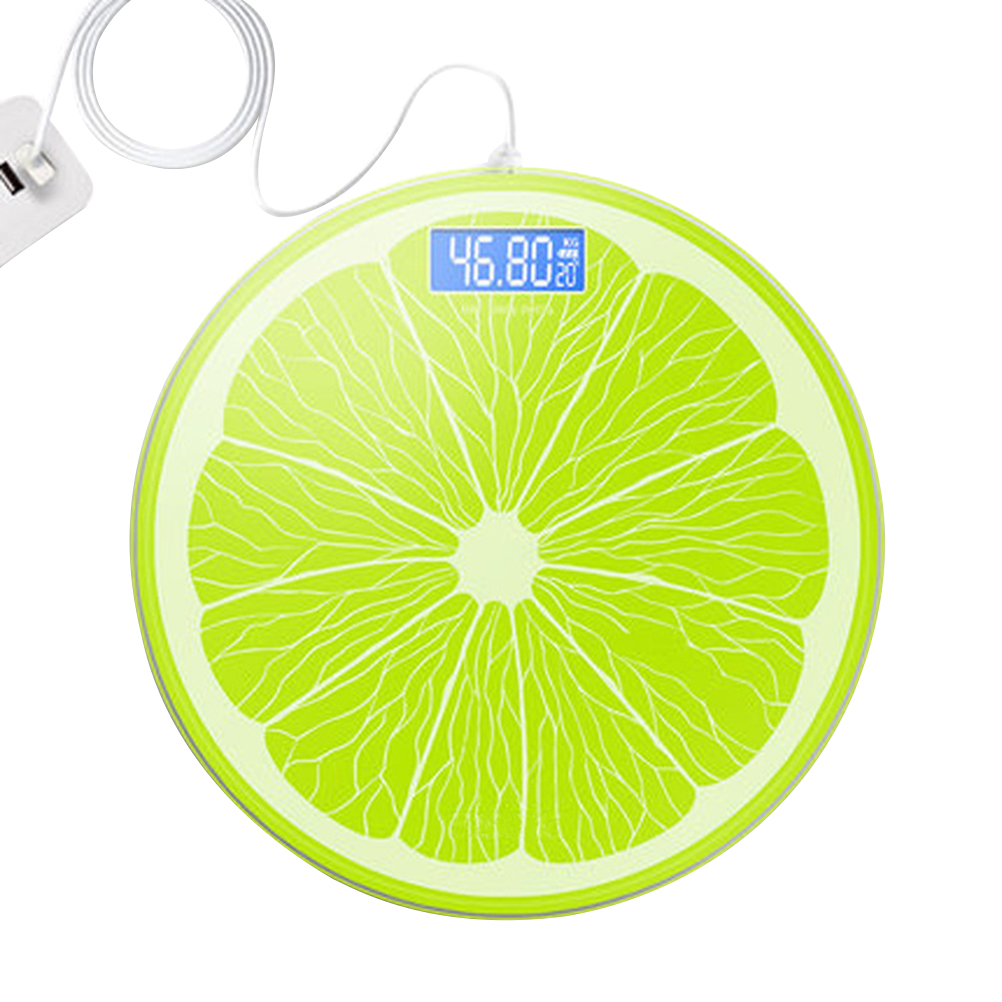 Household Lemon USB Rechargeable Digital Precision Measurements Weight Scale|Bathroom Scales| |  - title=
