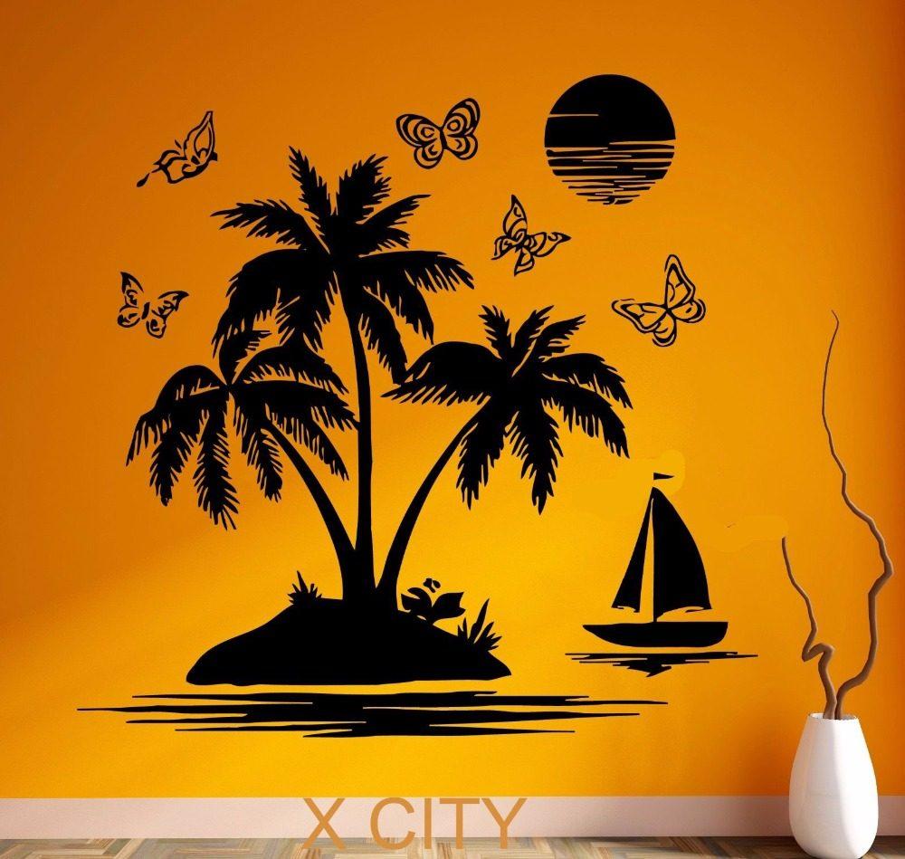 Online Shop Cool Vinyl Wall Decal Sailor Beard Wave Nautical Marine ...