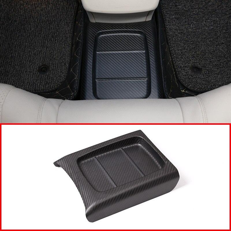 Véritable Fiber de carbone pour Mercedes Benz classe E W213 2016 2017 2018 intérieur moulage arrière rangée Protection couvercle garniture pièce de voiture