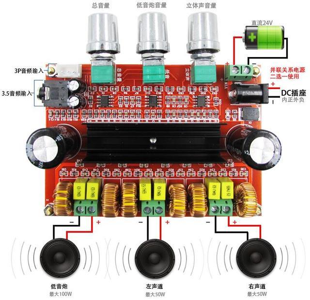By Photo Congress    2 1 Amplifier Board 100w