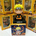 "Free Shipping Cute 4"" Naruto Anime Uzumaki Naruto Bobble Head Shaking Head Toy Model Car Decoration Boxed PVC Action Figure Toy"