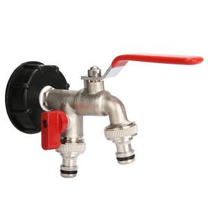Image 3 - Adaptador IBC de 1000 litros, Conector de tanque de agua de jardín, adaptador de tanque de agua de lluvia, conectores de agua para jardín doméstico