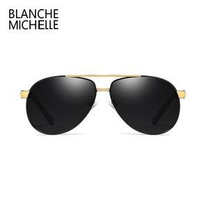 Image 2 - Hohe Qualität Legierung Pilot Sonnenbrille Männer polarisierte UV400 Sonnenbrille Herren Fahren Sonnenbrille Mann Sonnenbrille 2020 oculos Mit Box sunglasses men sun glasses man sunglass mens