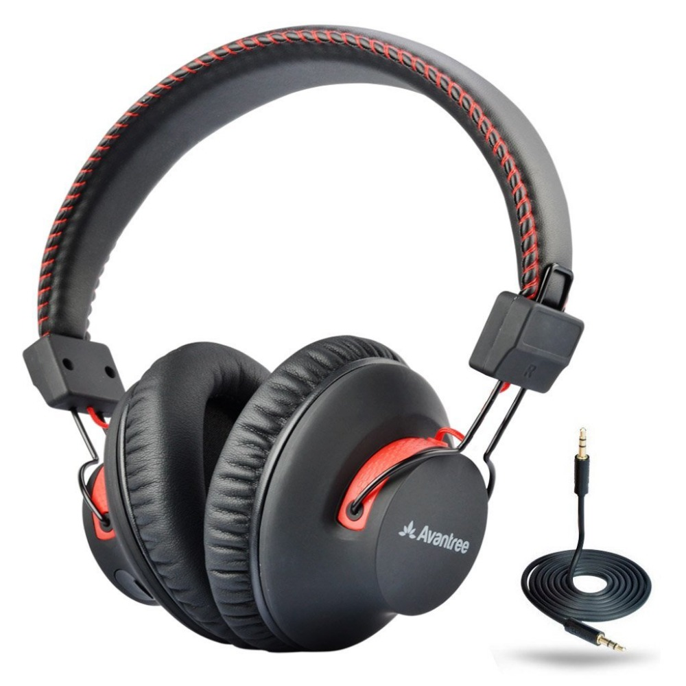 Avantree 40 hours DUAL Mode Bluetooth Over Ear Headphones with Mic, Super COMFORTABLE, Wireless & Wired, aptX Hi-fi NFC Headset