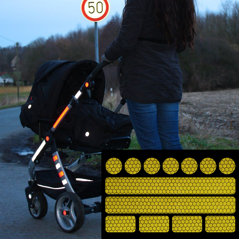2016Hot sell luminous sticker 13 stickers for pushchairs, bicycle helmets and more