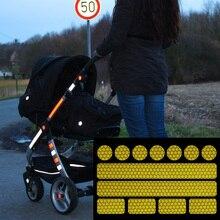 Reflektierende aufkleber für kinderwagen, fahrrad helme und mehr