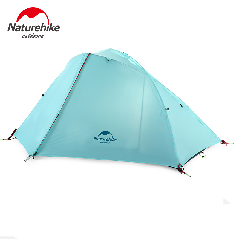 Naturehike 1-2 Person Camping Tent With Free Mat Double Layer Waterproof Tent Ultralight For Outdoor Backpacking Hiking Camping yingtouman outdoor 2 person waterproof double layer tent fiberglass rod portable ultralight camping hikingtents