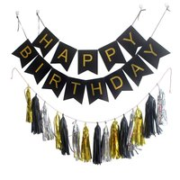 Party Garland With Pack 15 Tissue Paper Tassels Garland Pink White Mint Colors Happy Birthday Bunting