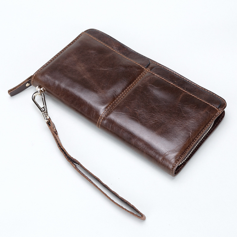 Long Wallet Design Genuine Leather Bag New Fashion Cash Wallets Card Holder Coin Purse Clutch Men Hand Bag For Man Gift 2017 new cowhide genuine leather men wallets fashion purse with card holder hight quality vintage short wallet clutch wrist bag