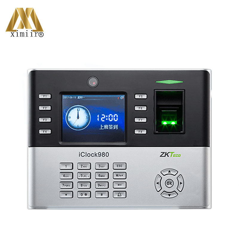New Arrival IClock980 Biometric Fingerprint Time Attendance System And Access Control With Camera ZK Fingerprint Time Recorder