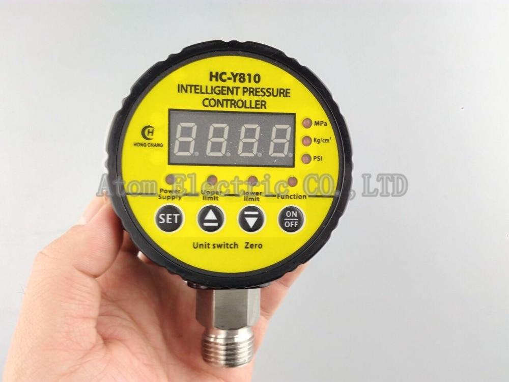 380V AC Hydraulic Air Compressor Digital Pressure Switch 0-10Mpa M20 x 1.5 13mm male thread pressure relief valve for air compressor
