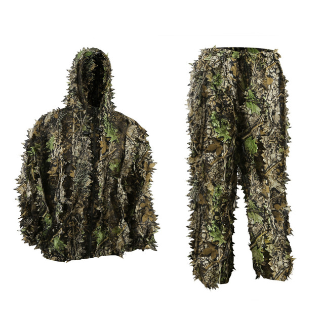 ba2edf485881d Pellor Children 3D Leafy Leaves Camouflage Clothing Outdoor Jungle Woodland  Hunting Camo Ghillie Suit