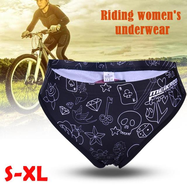 Skull Style Graffiti Print Mountain Bike Road Bike Riding Bicycle Cycling Underwear Underpants For Women