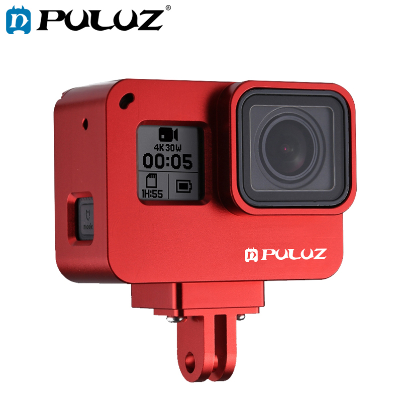 Color : Black 2018 GuiPing Housing Shell CNC Aluminum Alloy Protective Cage with Insurance Frame for GoPro Hero //7 Black //6//5 Durable