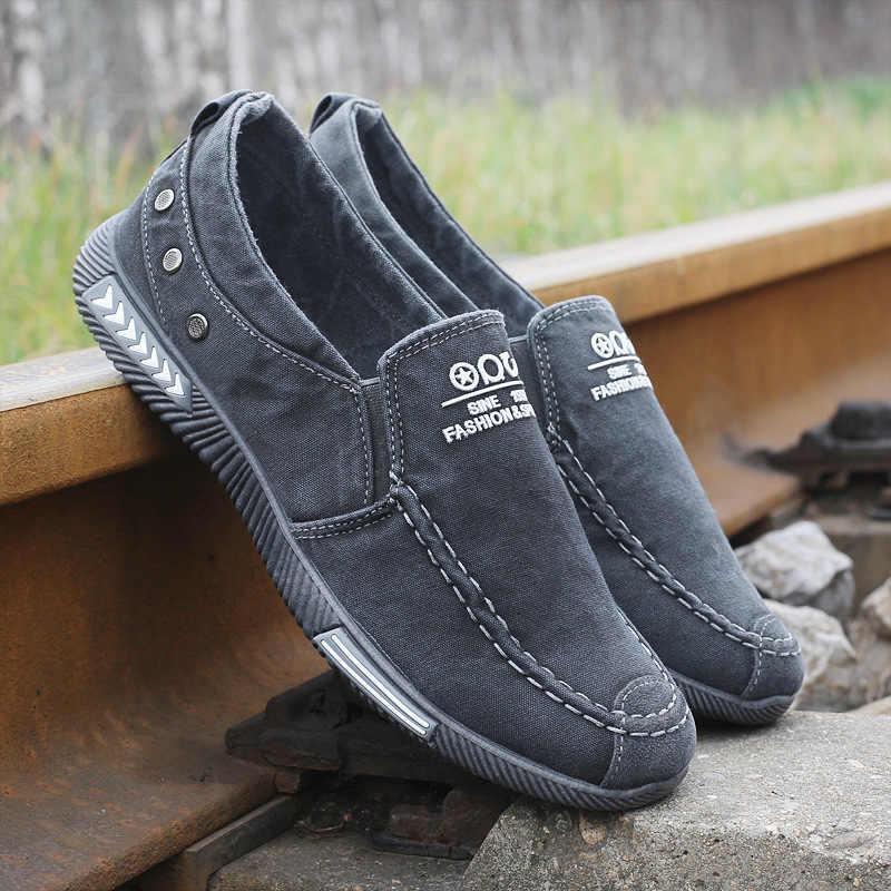 Zapatos De tela vaquera De moda para Hombre, Zapatos De lona para Hombre, zapatillas De deporte para Hombre, Zapatos De lona para Hombre