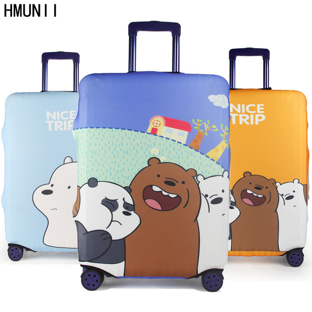 HMUNII Brand Fashion Travel Waterproof Luggage Cover Portable Elastic Stretch Protect Suitcase Cover to 18''-32'' Case Covers