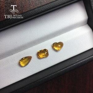 Image 3 - Tbj,ธรรมชาติอุ่นสีเหลือง 1CT UP คุณภาพดีเล็กน้อยรวมอัญมณีสำหรับ DIY GOLD เครื่องประดับ