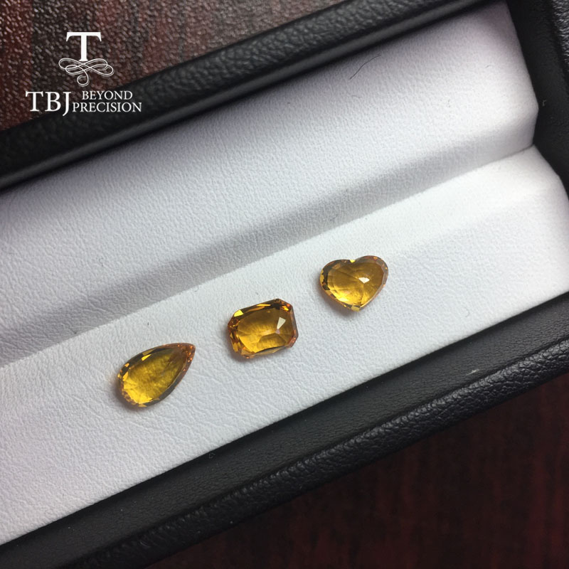 Image 3 - Tbj ,natural heated yellow sapphire 1ct up good quality slight inclusion gemstone for diy gold jewelry-in Rings from Jewelry & Accessories