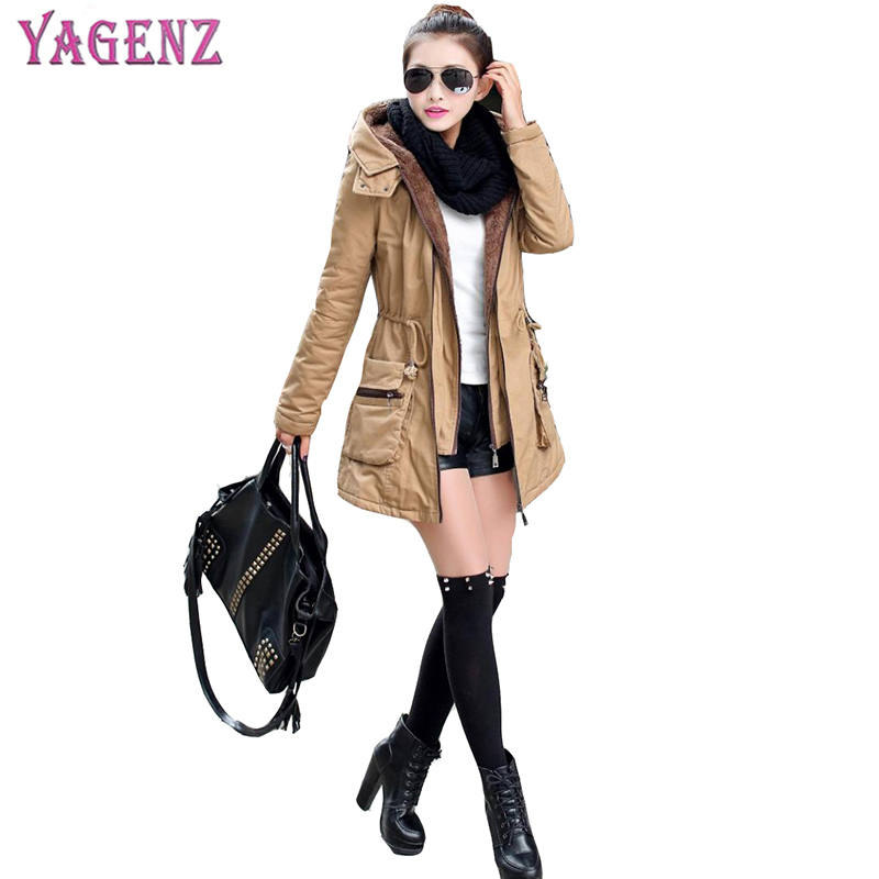 9a163b17a64 2018 Winter Ladies Coat High Quality Long Section Thickening Female Cotton  Jacket Hooded Keep Warm Women Cotton Jacket Plus Size-in Parkas from Women s  ...