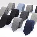 Comercial de Luxo 100% Cor Preto Cinza Gravata Dos Homens Gravatas Moda Gravata De Lã Clássico Designer Estilo Europeu Feito À Mão Laços