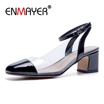 ENMAYER   Genuine Leather  Ladies Shoes  Womens Shoes  Zapatos Mujer Tacon  High Heel Shoes  Pumps Size 34-39 ZYL2620