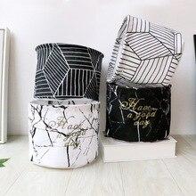 1PC New Simple Stylish S Cloth Waterproof Folding Cosmetic Debris Desktop Storage Box Sundries Basket Toys Bag