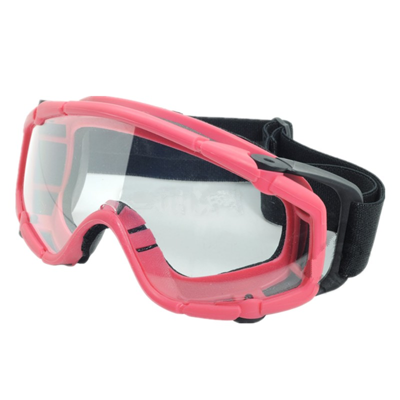 Tactical skiing safety goggle SI-Ballistic Goggle Black DE pink 421 422