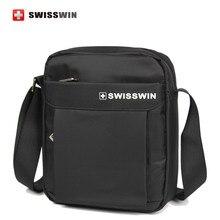 Swisswin casual männer täglichen umhängetasche kleine umhängetasche für ipad, geldbörse und handys Braun Schwarz Crossbody-tasche Frauen