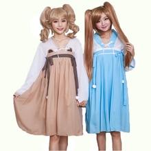 Japonés kimono dress cosplay anime maid lolita dress cat costume estilo retro love live fancy dress