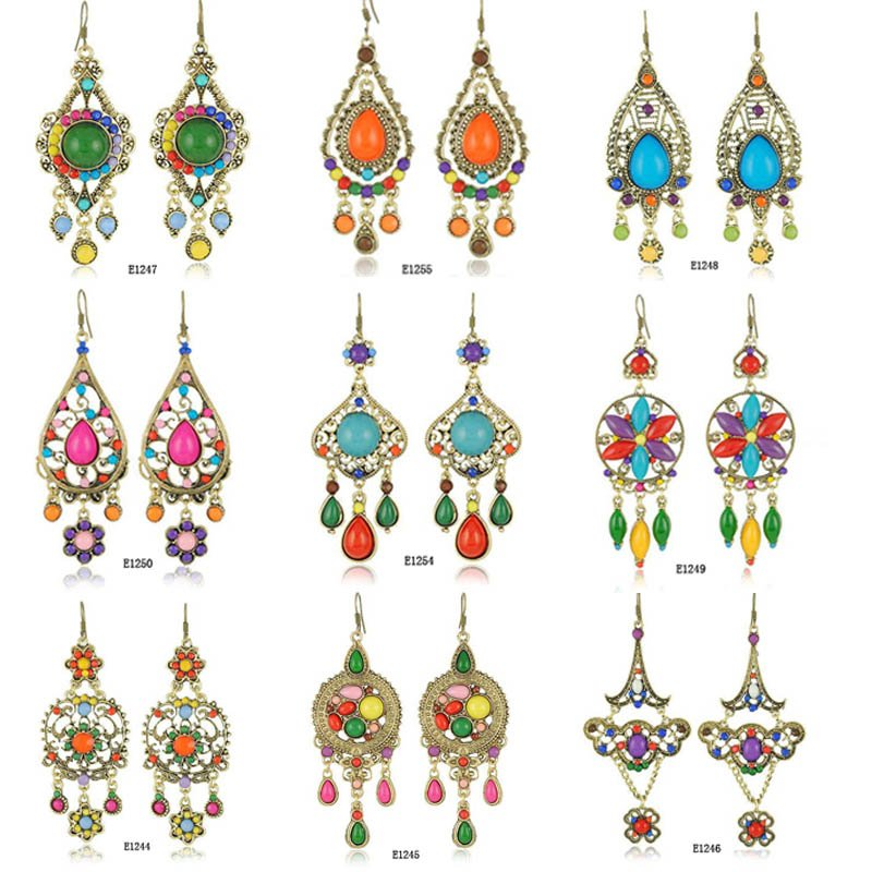 2017 New Arrival 18pairs Lot 9 Styles Mix Whole Free Shipping Ethnic Long Bohemian Vintage Earrings For Women In Drop From Jewelry